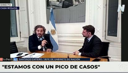 """Santiago Cafiero: """"Las medidas restrictivas son para darle tiempo a la vacunación"""""""