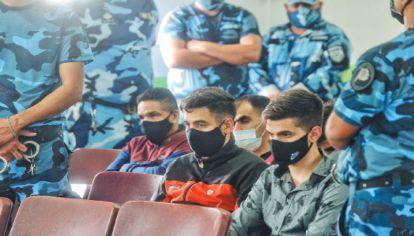 Veredicto. Tres de los acusados por el caso estuvieron presentes en la sala, bajo un fuerte operativo policial.