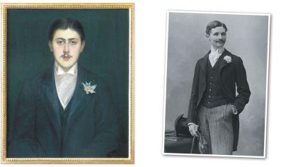 """Marcel & William. A izquierda, el escritor francés, autor de En busca del tiempo perdido, una de las obras literarias más importantes del siglo XX. Abajo, William Penniman Heath, """"el amigo americano"""" de Proust."""