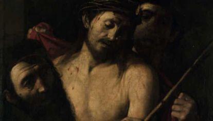 """Detalle de """"Coronoción de espinas"""", cuadro que se puso a la venta en abril de 2021, en 1500 euros pero podría costar más de 50 millones."""