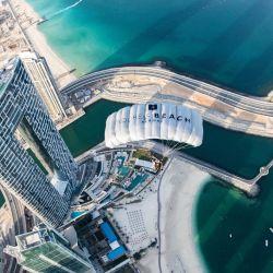 Vista exterior de Address Beach Resort de Dubai.