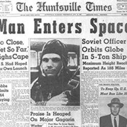 Su gran hazaña espacial fue tapa de los diarios de todo el mundo.