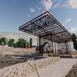 El predio contará con un centro cubierto de 260 metros cuadrados y otro semi cubierto de 321,69 metros cuadrados.