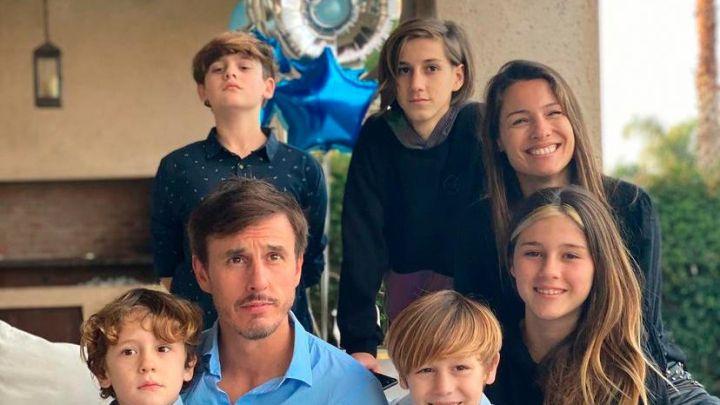 Roberto García Moritán compartió una tierna foto retro con sus hijos
