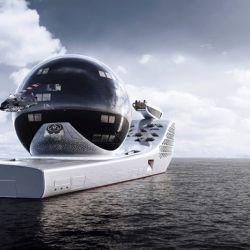 La particular esfera gigante ubicada en la cubierta de popa contará con un área dedicada principalmente a la investigación oceánica.