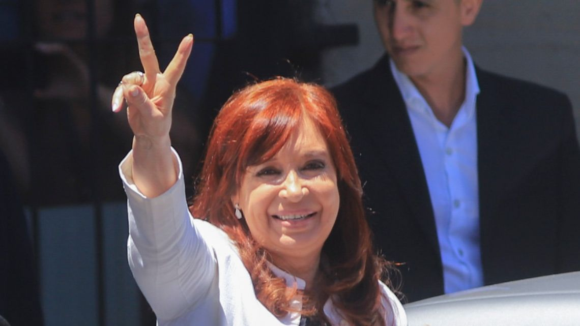 Vice-President Cristina Fernández de Kirchner leaves court in this file photo.