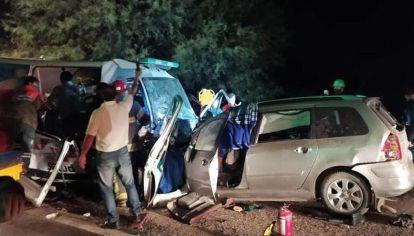 La Rioja nueve muertos al chocar una ambulancia y un automóvil