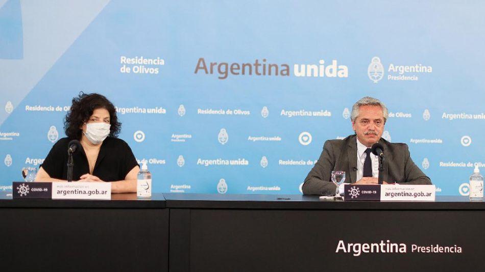 Alberto Fernández con Carla Vizzotti 20210413