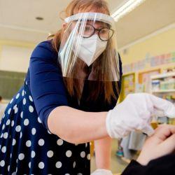 Testeos en las escuelas alemanas.    Foto:DPA