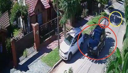 La víctima (círculo amarillo) resistió el ataque y frustró el plan delictivo.
