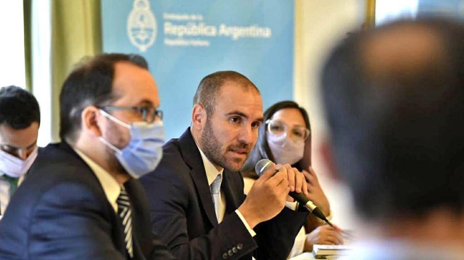 El ministro Martín Guzmán en Italia 20210414