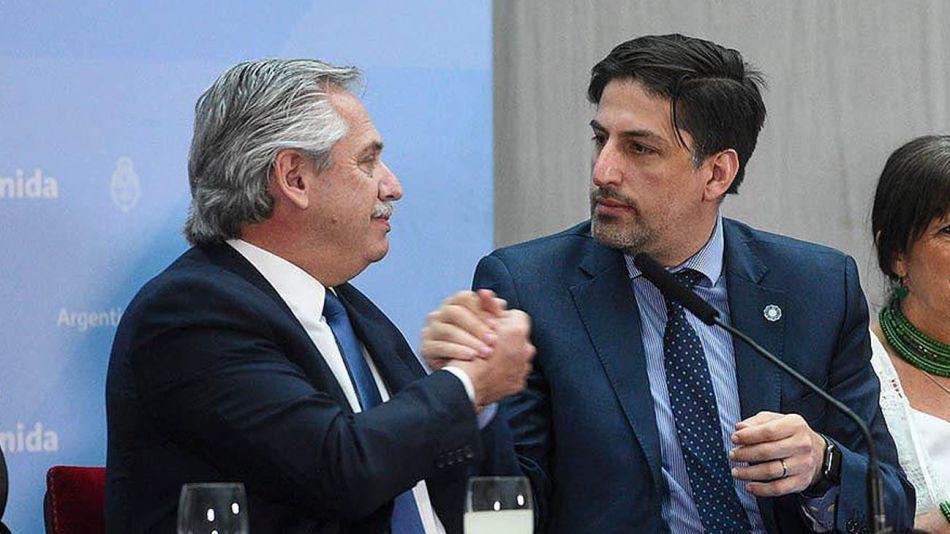 Alberto Fernández con Nicolás Trotta 20210415