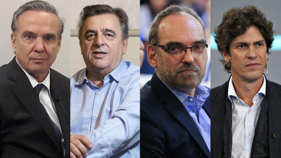 Miguel Ángel Pichetto, Mario Negri, Fernando Iglesias y Martín Lousteau 20210415