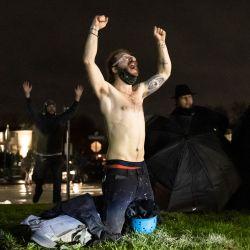 Los manifestantes gritan    Foto:Kerem Yucel / AFP