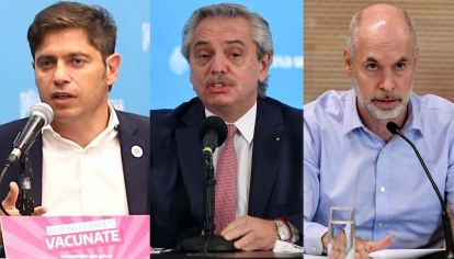 Conferencias: Kicillof, Fernández y Larreta en cadena.