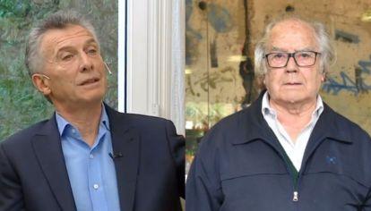 Mauricio Macri, ex presidente; Adolfo Pérez Esquivel, premio Nobel de la Paz.