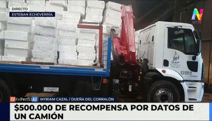Ofrecen 500 mil pesos para recuperar un camión robado