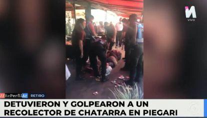 Policías de la Ciudad golpeó a un recolector de chatarra que tenía un cuchillo