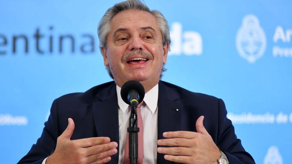 Conferencia de prensa de Alberto Fernández 20210416