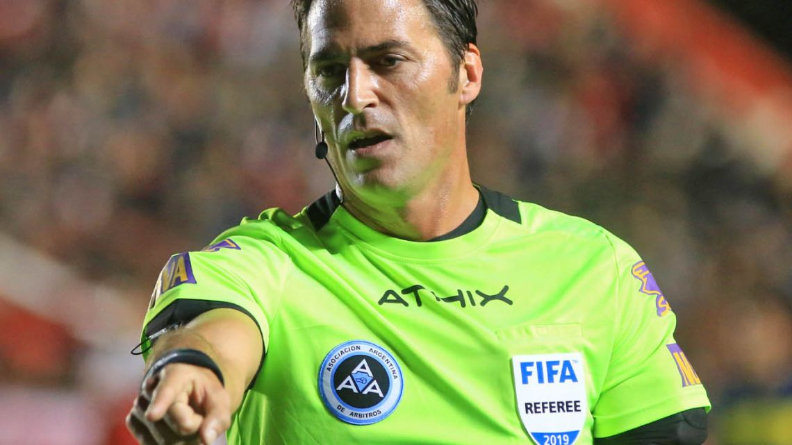 Referee Mauro Vigliano found himself at the centre of a media furore after awarding a soft penalty.