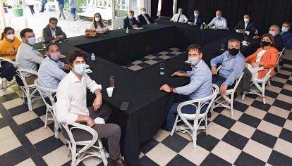 Cumbre. El último encuentro de JxC, donde salió un comunicado con duras críticas al Gobierno.