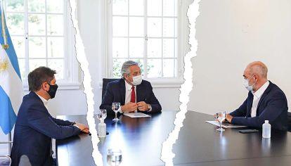 Otros tiempos. Se rompió la relación política entre Alberto Fernández, Rodríguez Larreta y Axel Kicillof.