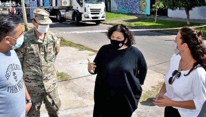 Laferrere. La ministra de Salud, Carla Vizotti, encabezó el operativo junto a Inés Barboza, de Defensa.