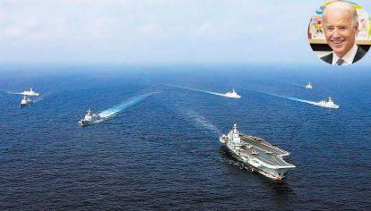 Por aire y mar. Pese a las sonrisas, Xi y Biden chocan en torno a Asia, que hoy es prioridad para Estados Unidos. Beijing desplegó su flota cerca de la costa taiwanesa, y sus aviones sobrevolaron cerca del espacio aéreo.