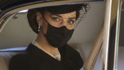 Kate Middleton en el funeral de Felipe de Edimburgo.
