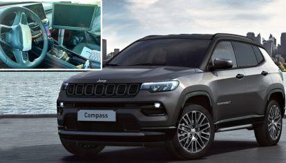 Se filtra foto del interior del nuevo SUV de Jeep siete asientos