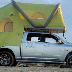 La carpa se destaca por cómo aprovecha toda la superficie del vehículo para brindar el mayor espacio posible.