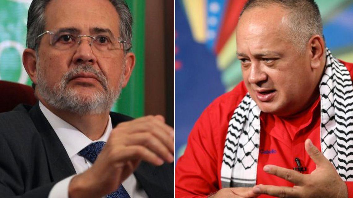 Miguel Henrique Otero (left) and Diosdado Cabello.