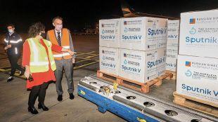 Llegada de un nuevo cargamento con Vacunas Sputnik V 20210420