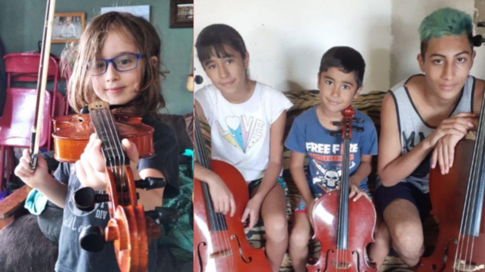 2021 04 20 Orquesta Escuela de Berisso Instrumentos
