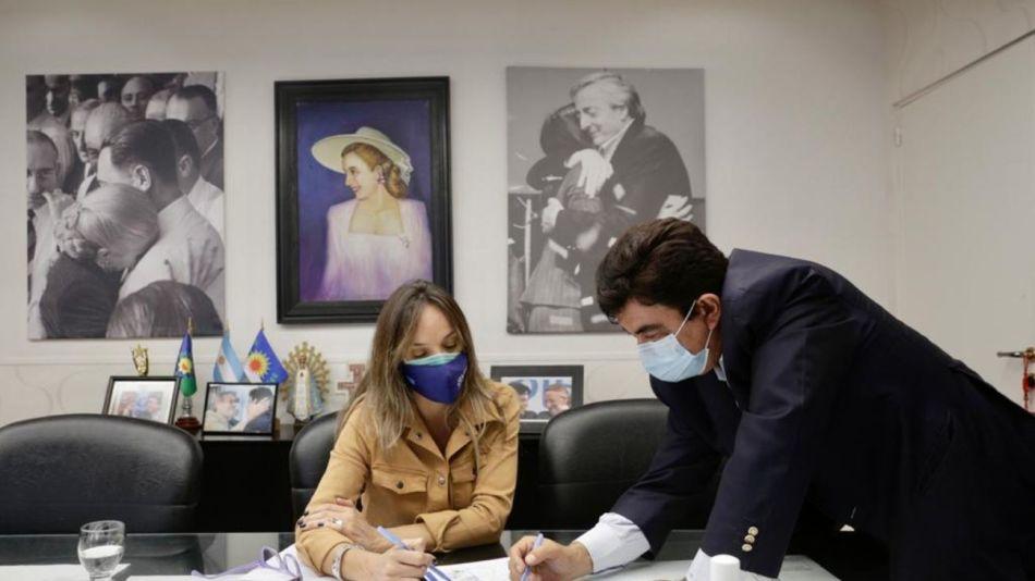 Malena Galmarini y Fernando Espinoza