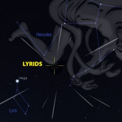 El fenómeno podrá verse durante la noche de hoy, jueves 22, y la madrugada de mañana, viernes 23.