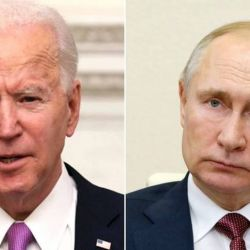 Biden y Putin, trabados hoy en una guerra verbal.  | Foto:CEDOC