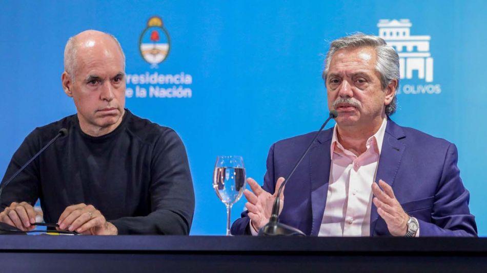 Horacio Rodríguez Larreta y Alberto Fernández.