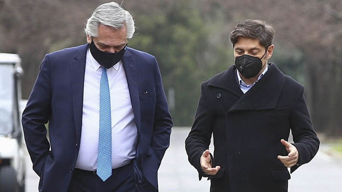 President Alberto Fernández and Buenos Aires Province Governor Axel Kicillof.