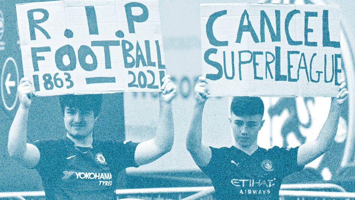 Super League protest.