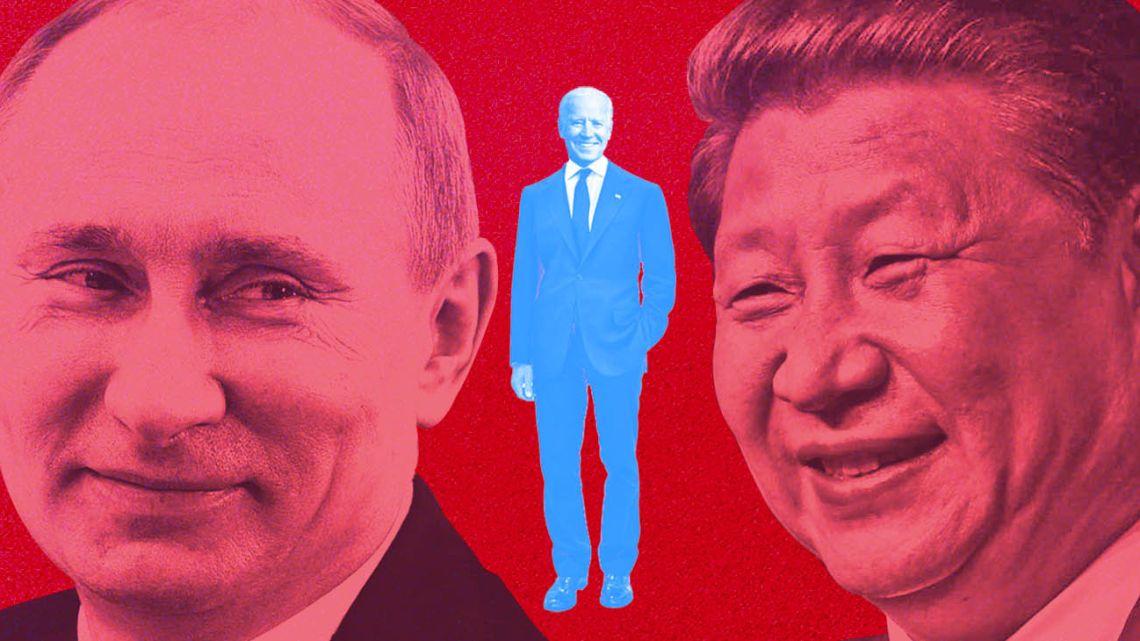 Vladimir Putin, Joe Biden, Xi Jingping