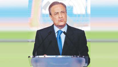 Florentino Pérez. El presidente del Real Madrid impulsó una Superliga, un apartheid del fútbol, pero se frustró.