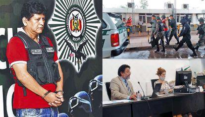 """Alegato. El fiscal Carlos Amad (der.) pidió para el acusado una pena de 18 años de cárcel y explicó que Farfán (izq.) """"intervino en todo momento de la cadena de transporte"""" de la droga secuestrada en un operativo del año 2013."""