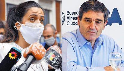 Enfrentados. No es la primera vez que Volnovich y Quirós se cruzan por la gestión de la pandemia.