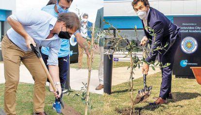 Buena cosecha. Lacalle Pou y Alejandro Domínguez negociaron inmunidad para todos.
