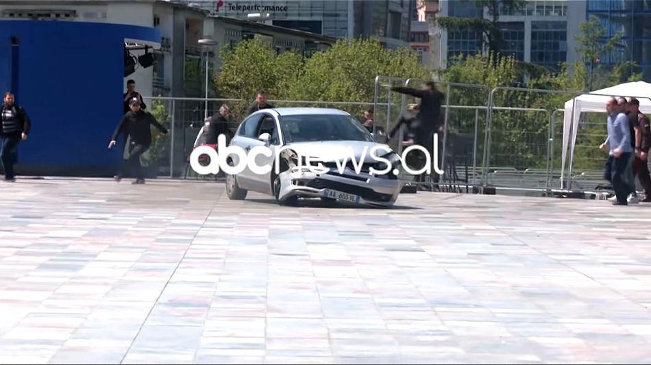Ataque con auto en Tirana, Albania, en medio de las elecciones parlamentarias.