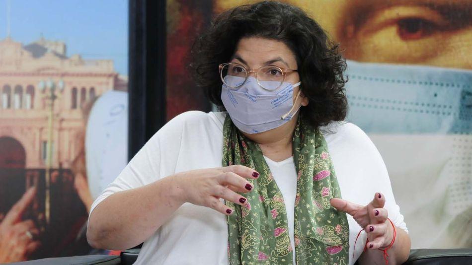 La ministra Carla Vizzotti, en la entrevista con Jorge Fontevecchia.