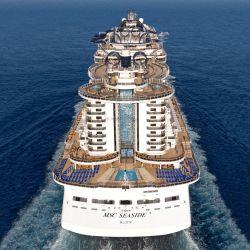 El MSC Seaside pasará su primera temporada recorriendo el Mediterráneo.