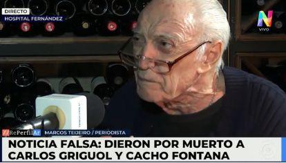 Cacho Fontana desmintió su muerte. Sigue internado por Coronavirus en el Hospital Fernández
