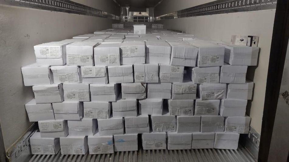 Exportación de langostinos a Brasil.